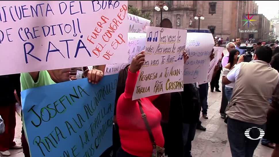 noticias, televisa, Nueva protesta, contra, Congreso en SLP, San Luis Potosí