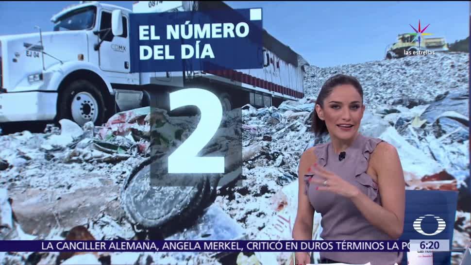 noticias, televisa, El número del día, 2, Dos mil toneladas de basura, Ciudad de México