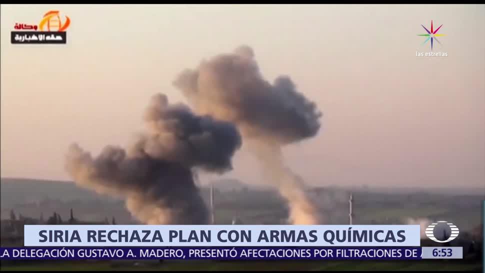 noticias, televisa, Siria, niega plan, ataque químico, civiles