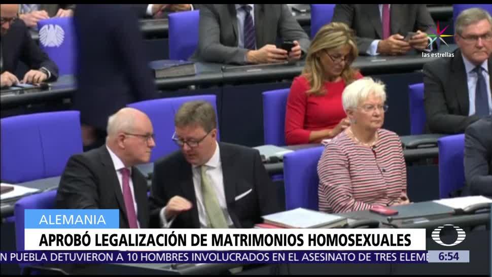 noticias, televisa, Parlamento, Alemania, aprueba reforma, autoriza el matrimonio homosexual