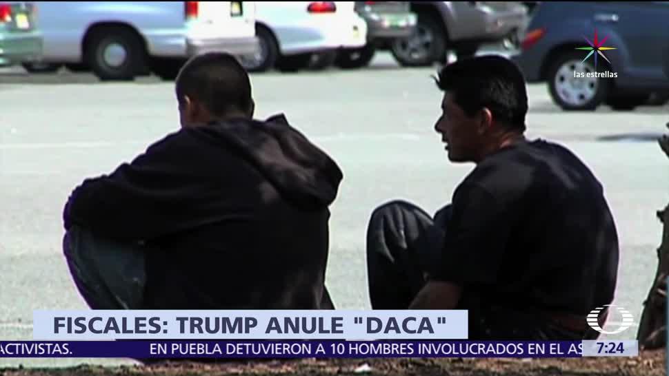 noticias, televisa, Fiscales republicanos, autorizar deportación, dreamers, programa DACA