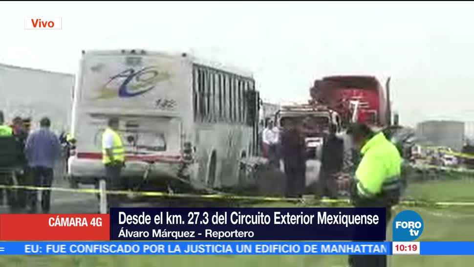 autobús de pasajeros, camioneta, Circuito Exterior Mexiquense personas