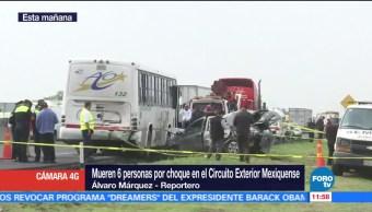 circulación, Circuito Exterior Mexiquense, accidente vehicular, muertos