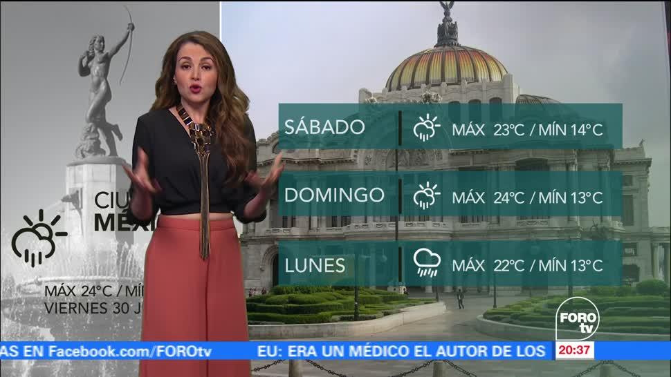 El clima, Mayte Carranco, Onda Tropical número 9, lluvias