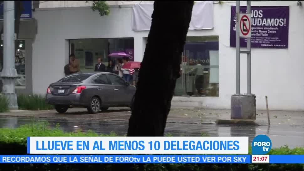 Llueve, 10 delegaciones, CDMX