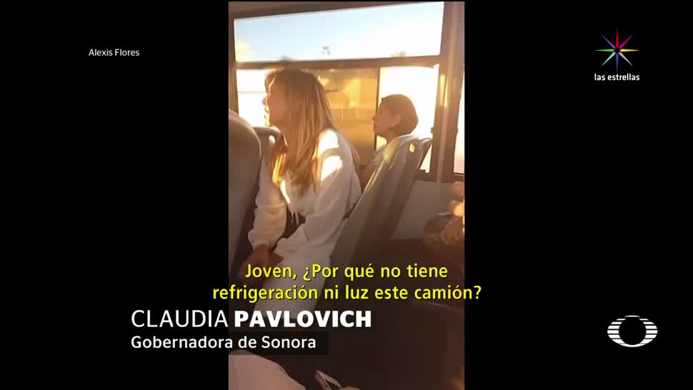 gobernadora, Pavlovich, sube autobús, Pavlovich