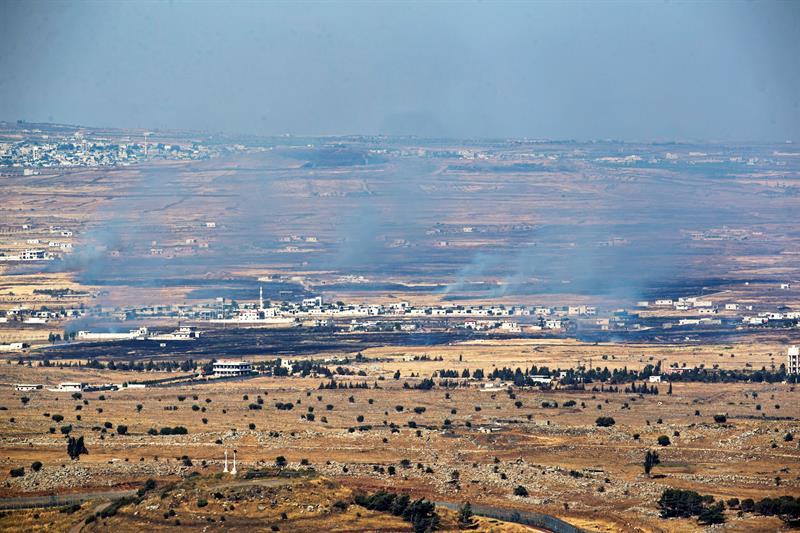 Fuerzas Militares De Israel, Atacaron, Siria, Proyectiles, Golan, Artilleria, Camion De Municiones, Zona Fronteriza, Fuego