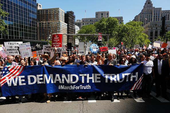 marchan neoyorkinos, protestas, marcha anti trump, Nueva York, Marcha por la Verdad