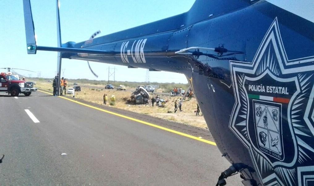 Volcadura, Autobus, Muertos, Sonora, Volcadura de autobus en sonora, Accidente