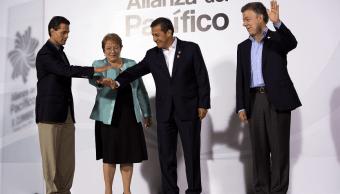Presidentes de México, Chile, Perú y Colombia en la Alianza del Pacífico en 2015