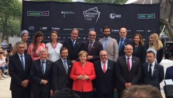 El grupo del Año Dual México-Alemania se reunió con la canciller alemana Angela Merkel (@Alemaniaparati)
