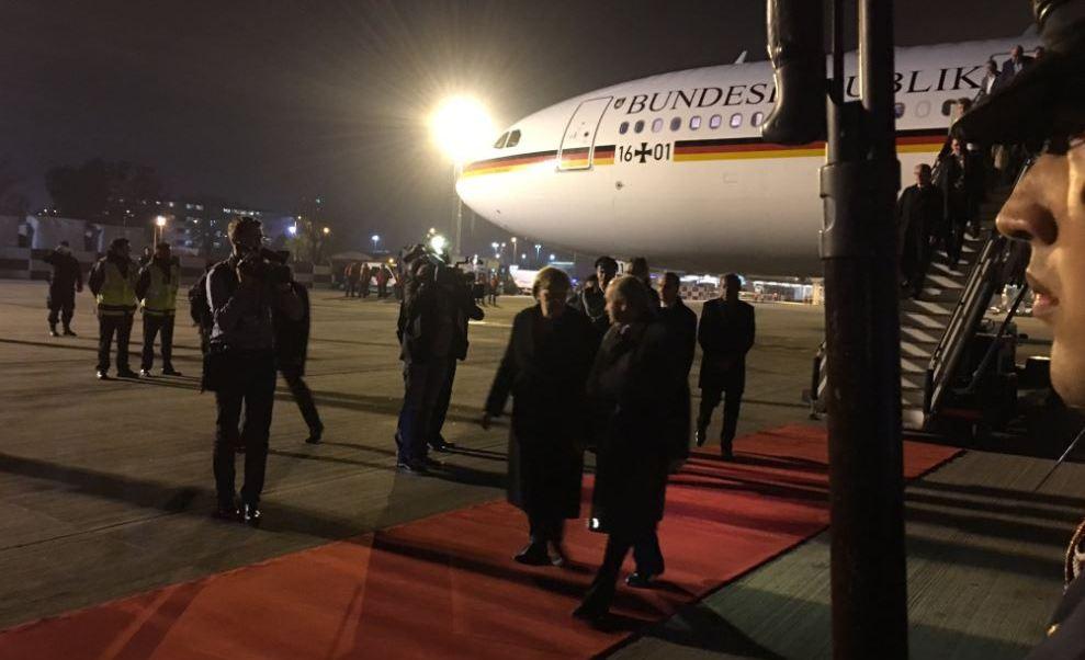 Angela Merkel, canciller de Alemania, llega a Buenos Aires