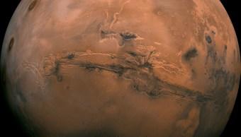 Imagen obtenida por la NASA de la superficie de Marte