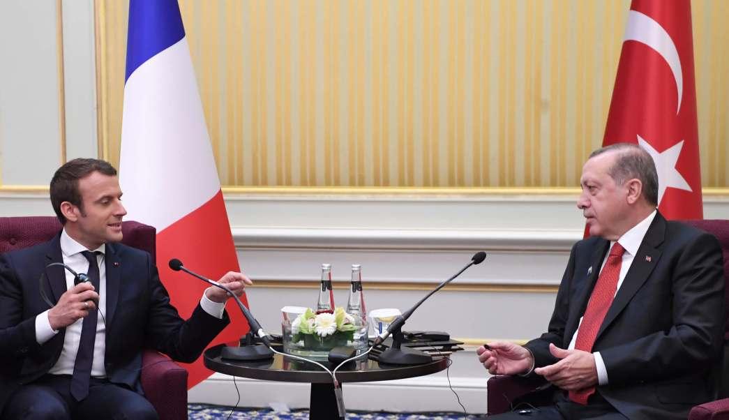 presidente francés, Emmanuel Macron, presidente turco, Recep Tayyip Erdogan
