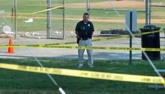 Policía, campo de beisbol, congresista, Steve Scalise