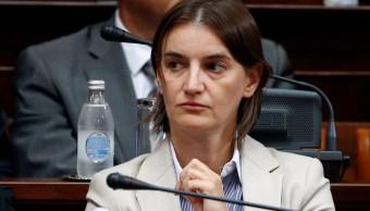 Ana Brnabic, sesión parlamentaria, Belgrado, Serbia