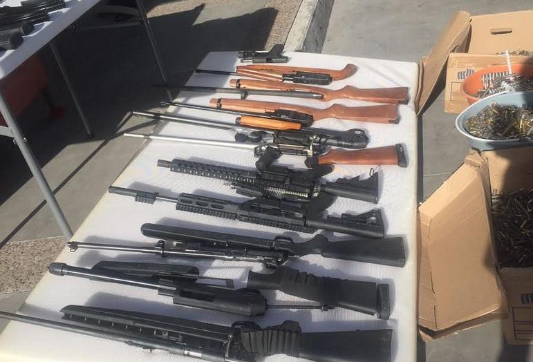 Armas, cartuchos, Celaya, Guanajuato, Policía Federal, Seguridad