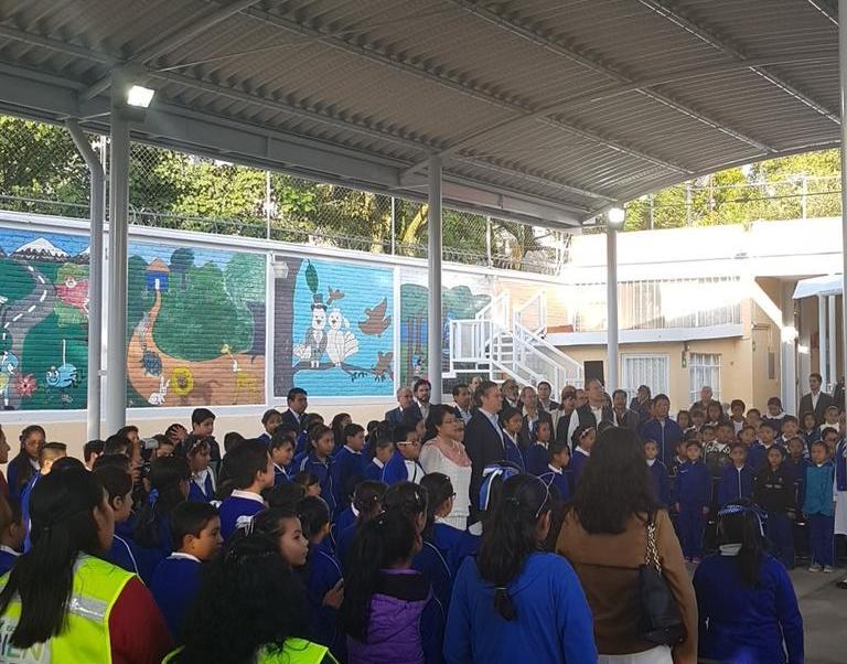 Aurelio Nuño visita la primaria Francisco Gabilondo Soler