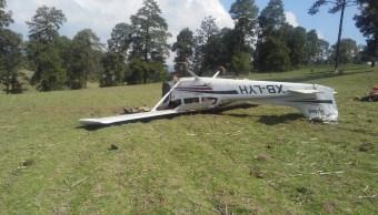 Avioneta siniestrada por fallas en su sistema