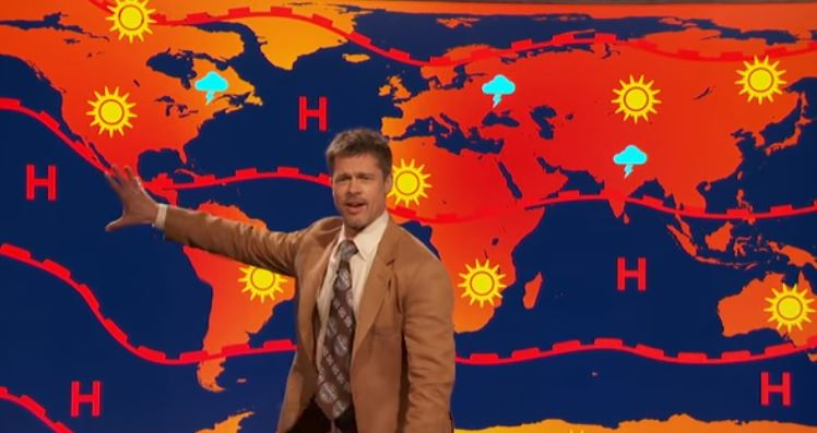 Brad Pitt da el pronóstico del tiempo en sketch cómico