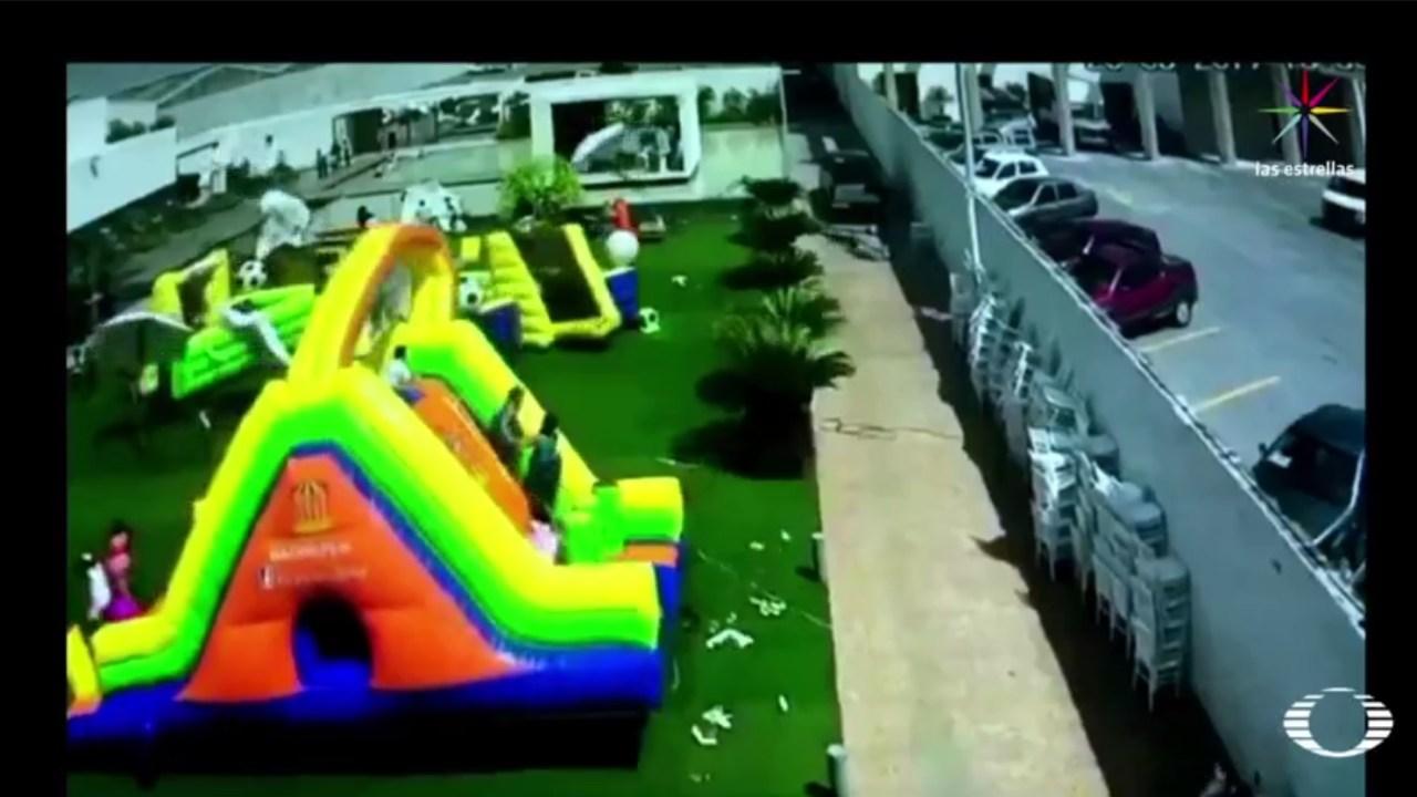 SLP, brincolín, inflable, niña, menor, lesionada, seguridad