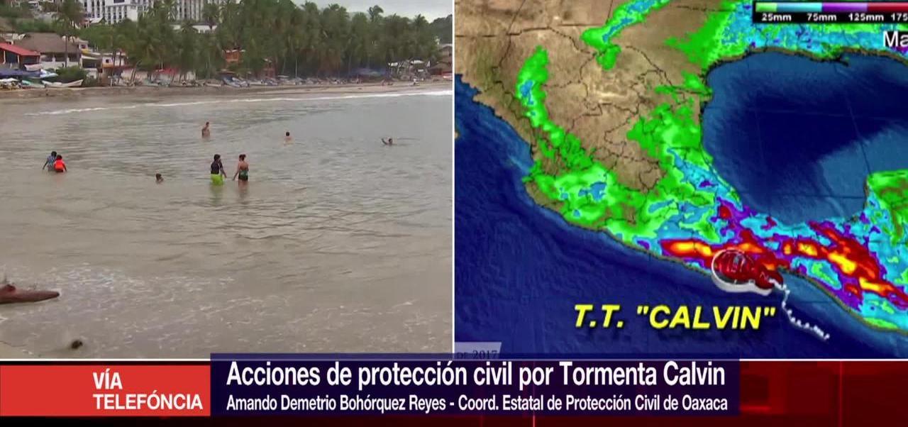 Calvin, impactaría Oaxaca, Protección Civil, tormenta tropical