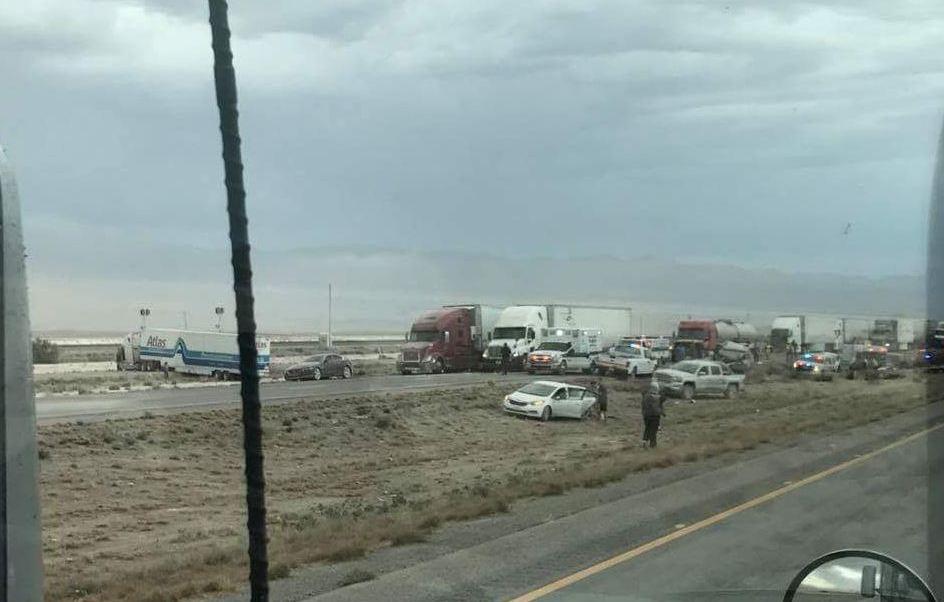 Choque masivo en Lordsburg, Nuevo Mexico, cerca de Arizona