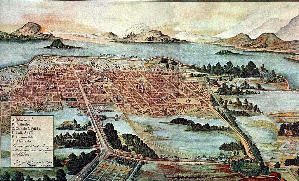 agua ciudad de mexico nueva españa