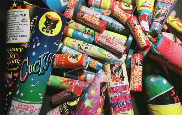Muestras de cohetes usados en festejos