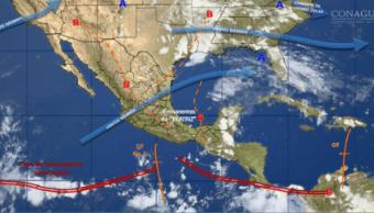SMN pronostica tormentas muy fuertes y granizo en el sureste del país