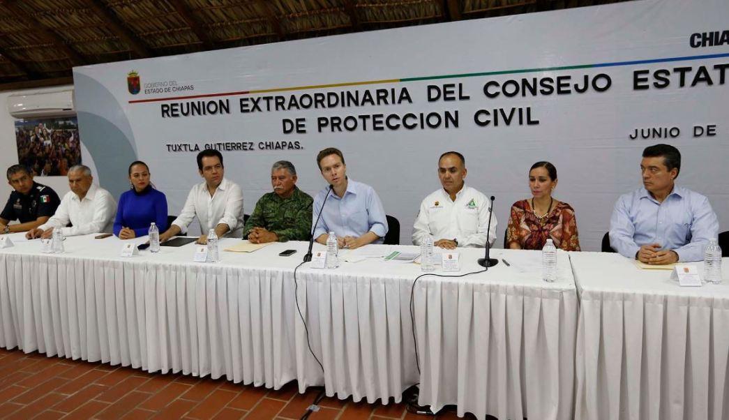 Sesión extraordinaria del Consejo Estatal de Protección Civil de Chiapas