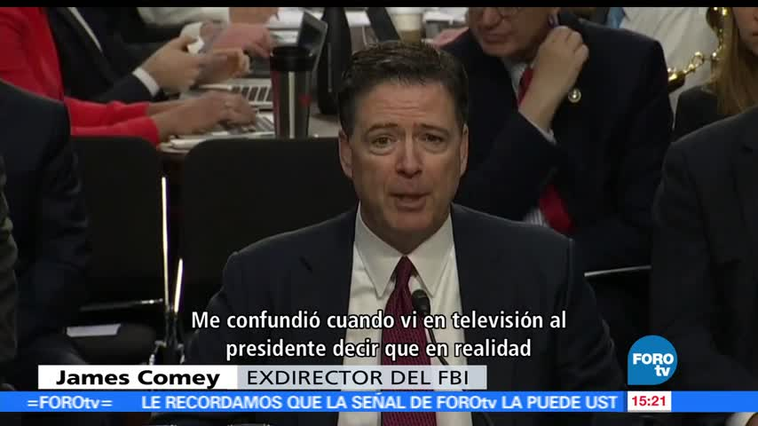 Contrastes, cobertura, audiencia, James Comey
