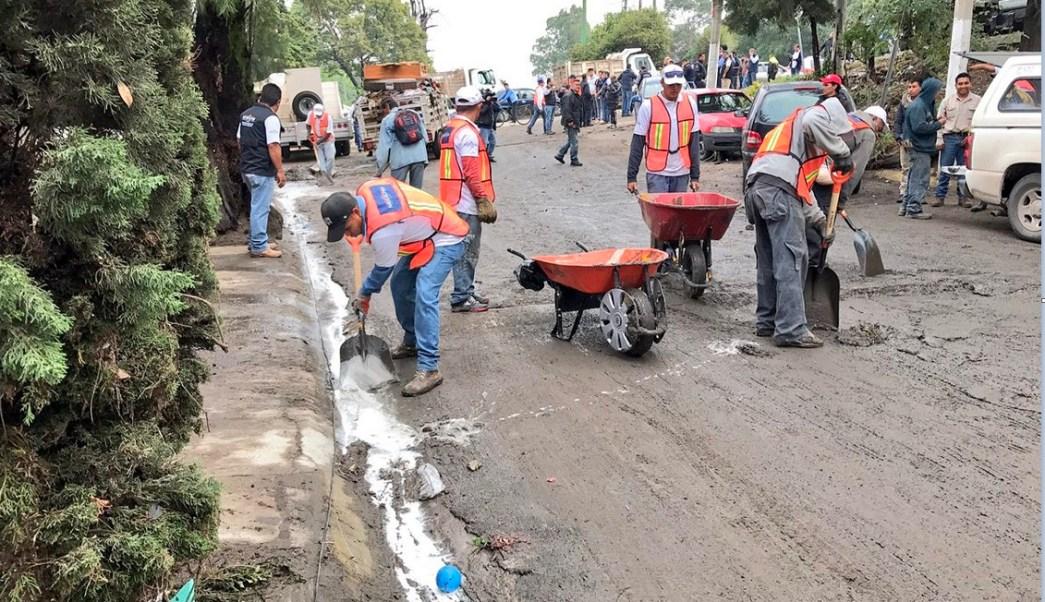 personal del edomex labora para limpiar calles