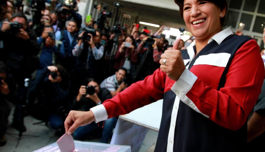 Delfina Gómez, candidata de Morena al gobierno del Edomex