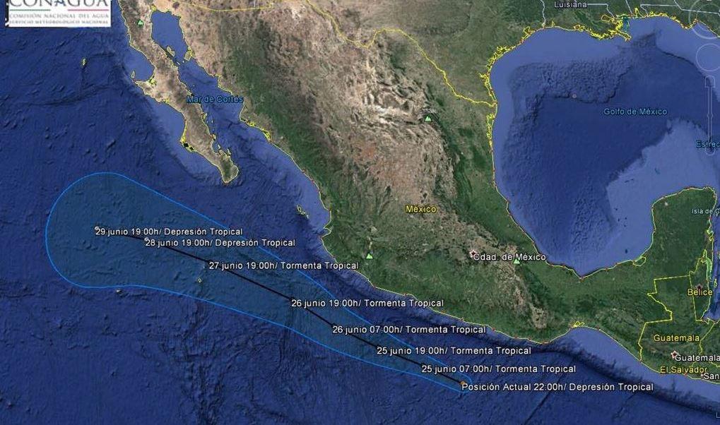 Depresión Tropical, Cuatro-E, Guerrero, Clima, Tormentas, Viento, Lluvia, Conagua