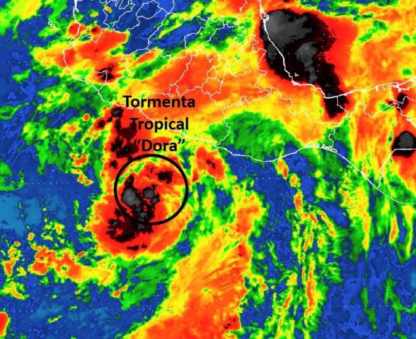'Dora' ya es huracán categoría 1