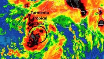"La tormenta tropical ""Dora"" se forma frente a costa de México (Twitter: @LUISFELIPE_P)"