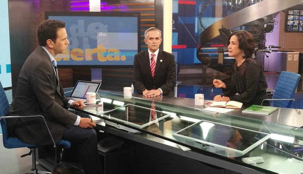 Edna Jaime y Miguel Ángel Mancera Espinosa en Despierta con Loret