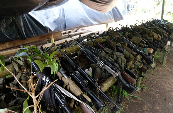 FARC, armas, Colombia, Santos, guerrilla, ONU,