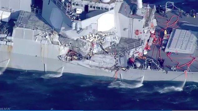 Resultado de imagen para Destructor estadounidense que chocó con buque mercante filipino en Japón
