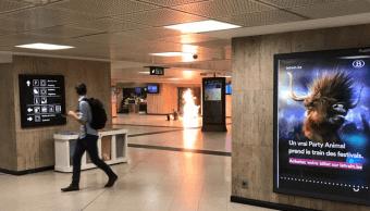 Un hombre hizo estallar una maleta en la Estacion Central