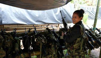 ONU saca primer contenedor armas FARC