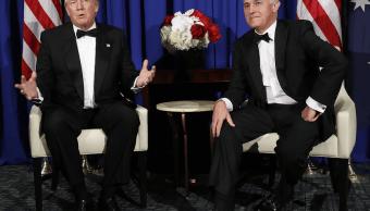 El presidente Donald Trump y el primer ministro australiano, Malcolm Turnbull