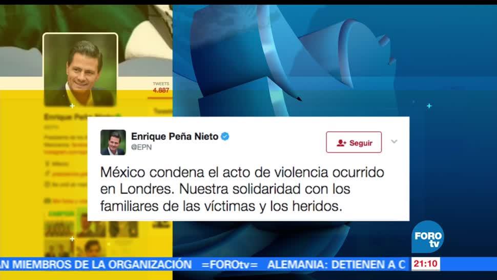 Presidente, Peña Nieto, EPN, condena, acto de violencia, atentado en Londres