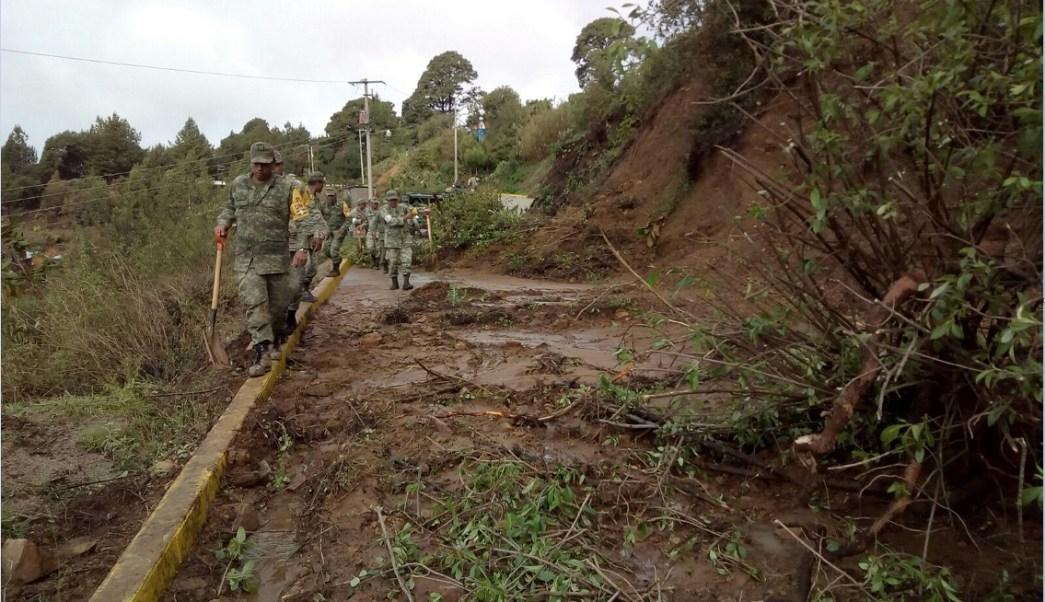 Lluvias provocan deslizamientos de tierra en oaxaca