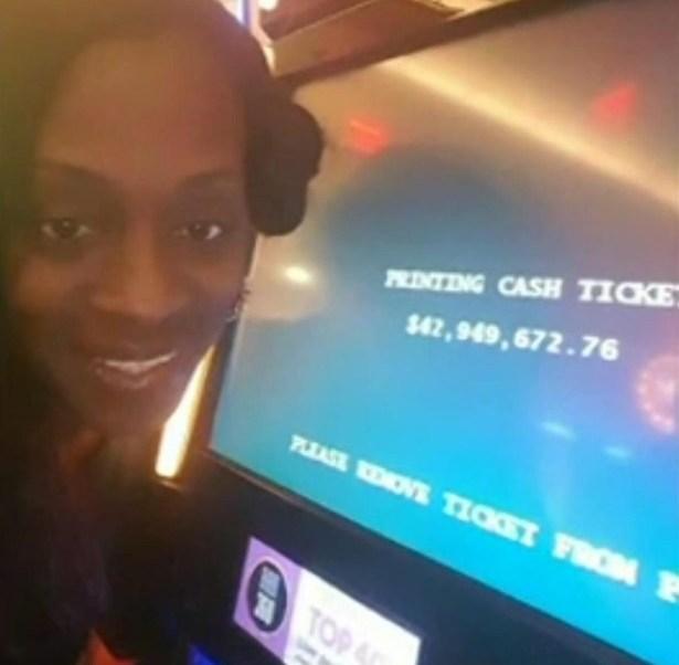 Katrina Bookman en el casino donde supuestamente ganó 43 millones de dólares (Foto: nydailynews)