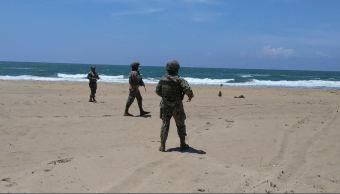 militares patrullan campamentos tortugueros en veracruz