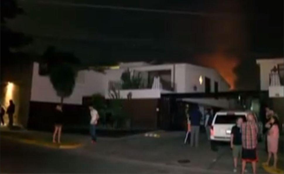 Personas son desalojadas por el incendio de diesel