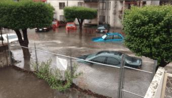 Inundación en Echegaray, en el municipio de Naucalpan, Edomex