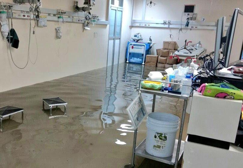 Inundacion, Hospital la villa, Gam, lluvia CDMX, inundacion gam, La villa,